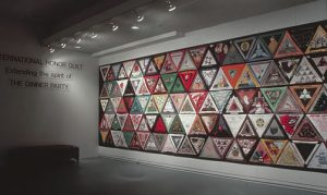 Installation view of the International Honor Quilt from The Dinner Party, Melbourne, Australia, 1988
