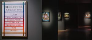 Resolutions: A Stitch in Time, 2000. Installation view at American Craft Museum (now Museum of Arts and Design), New York, NY, 2000