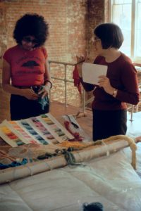 Judy Chicago Birth Project review with Helen Eisenberg Benecia, CA, c. 1981