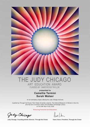Through the Flower is proud to announce the winners of the 2020 Judy Chicago Art Education Award: