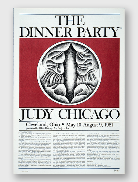 The Dinner Party Gallery Guide, Cleveland OH, 1981