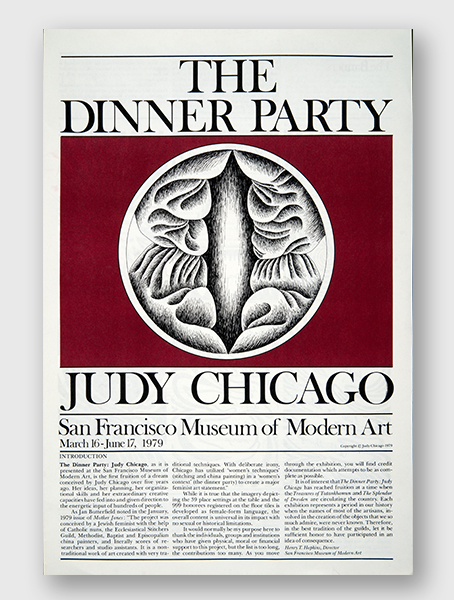 The Dinner Party Gallery Guide, San Francisco CA, 1979