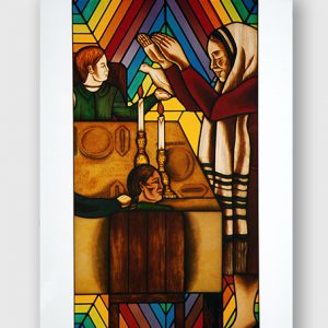 Boxed Rainbow Shabbat notecards